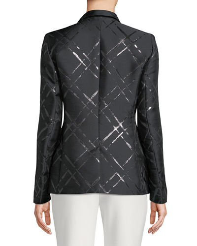 Broken Plaid Jacquard Jacket