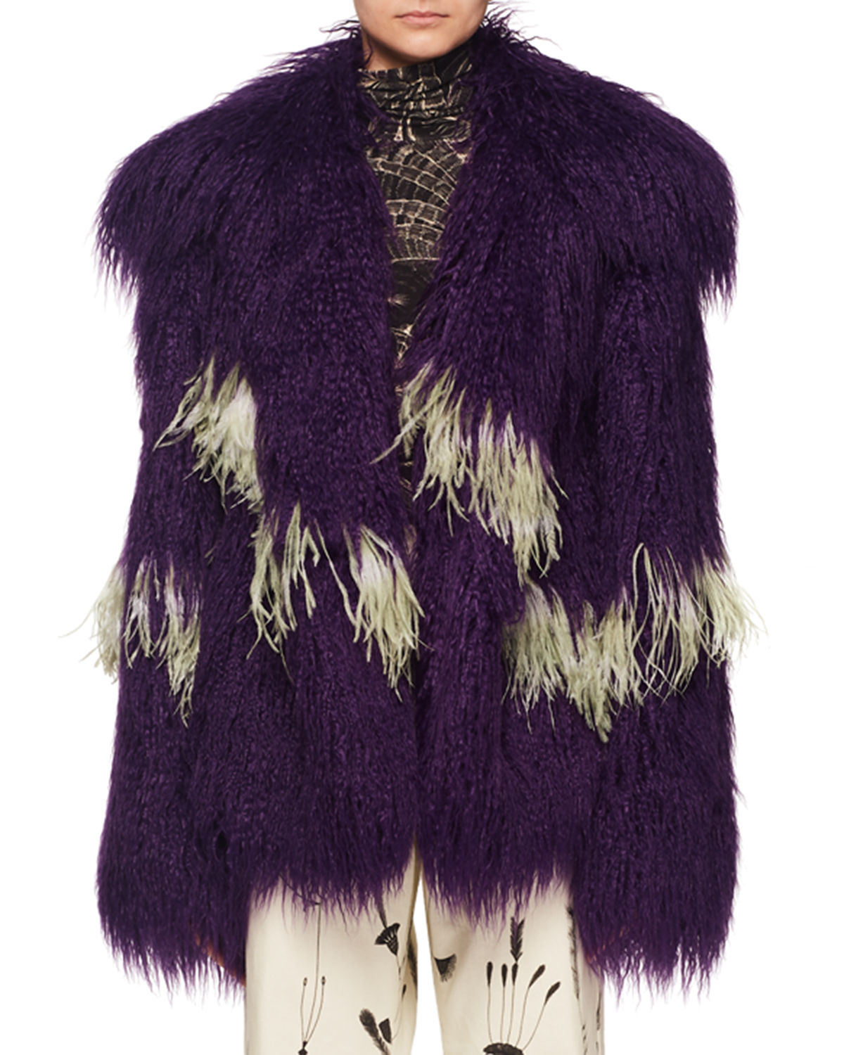 Shaggy Faux-Fur Jacket