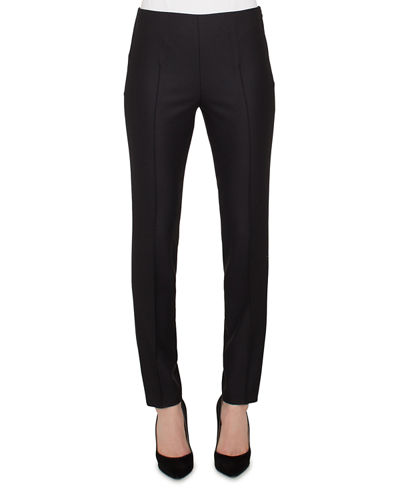 Melissa Skinny Side-Zip Stretch-Flannel Pants