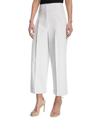 Loro Piana Kilian Cropped Wide-Leg Pants