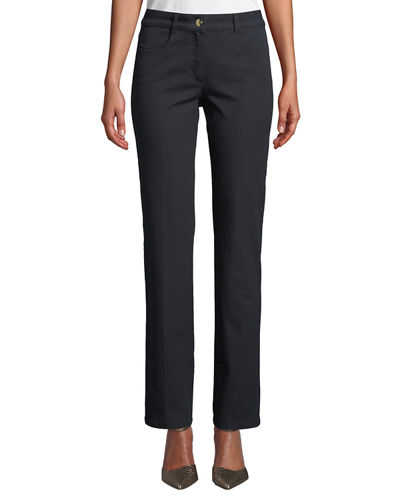 Mid-Rise Narrow Straight-Leg Jeans