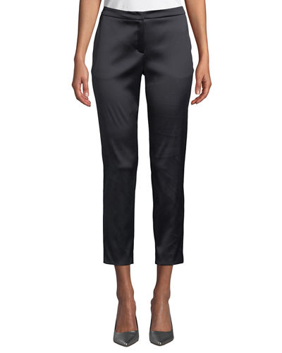 Talas Satin Stretch Ankle Pants
