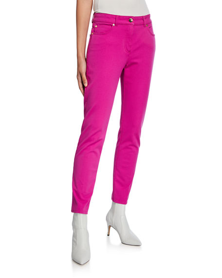Escada Five-Pocket Skinny-Leg Ankle Jeans