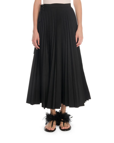 Silk Georgette Plisse Maxi Skirt