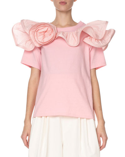 509580adfda42c Quick Look. Marc Jacobs · Short-Sleeve Ruffled-Rosette T-Shirt