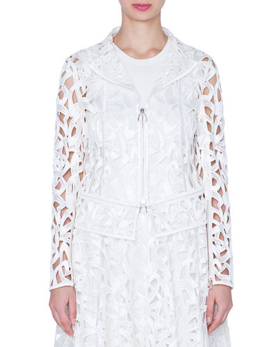 Akris Amy Marker Embroidered Short Jacket