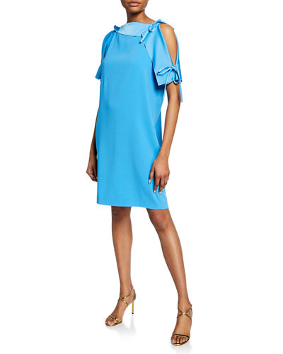 74ecf3883772 Quick Look. Escada · Asymmetric Cold Shoulder Satin Dress