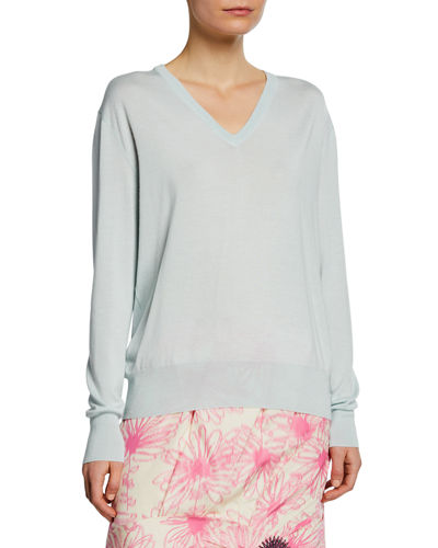 4cb96e9eb1 Quick Look. CALVIN KLEIN 205W39NYC · Long-Sleeve V-Neck Cashmere Silk  Sweater