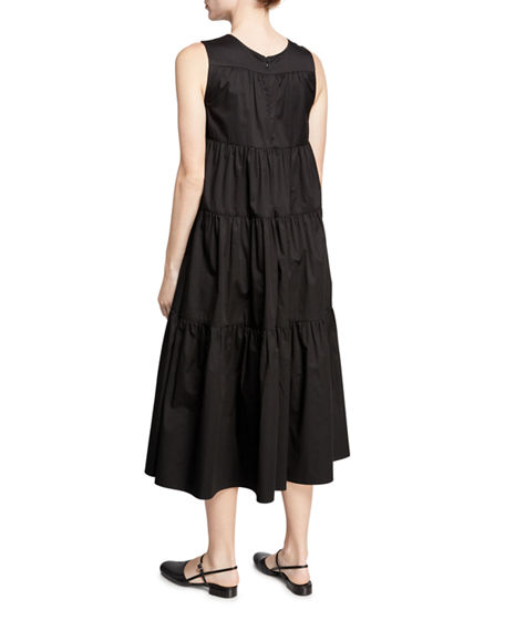 Image 2 of 2: Co Sleeveless Tiered Cotton Dress