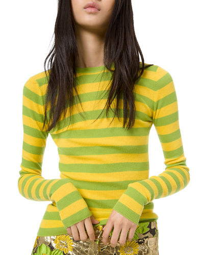 Featherweight Cashmere Striped Sweater