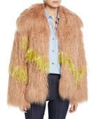 Dries Van Noten Shaggy Faux-Fur Jacket