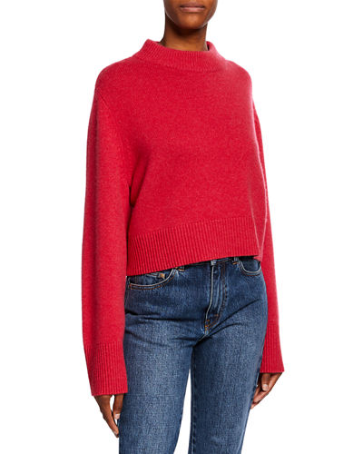 Cashmere Wide-Sleeve Boxy Sweater