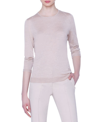 Fitted Silk Cashmere Sweater | Neiman Marcus