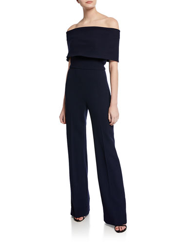 Off-the-Shoulder Crepe Jumpsuit