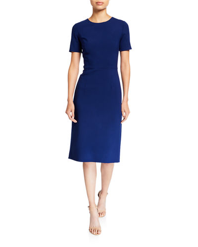 Crewneck Sheath Cocktail Dress