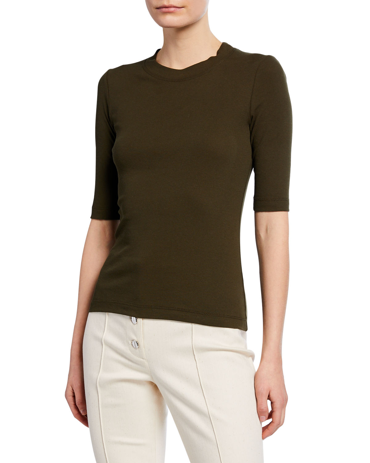 Rosetta Getty T-shirts 1/2-Sleeve Fitted T-Shirt