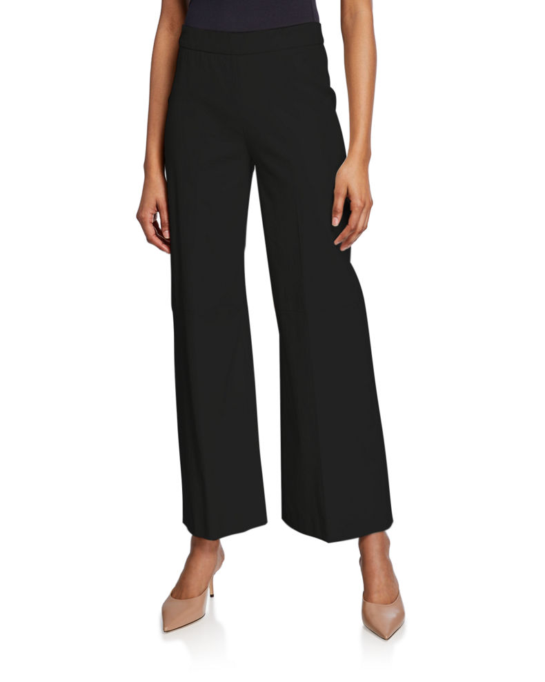 Rosetta Getty Leather Straight-Leg Trousers