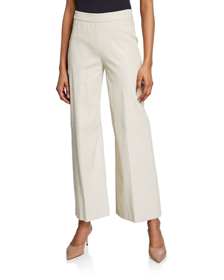 Rosetta Getty Pants LEATHER STRAIGHT-LEG TROUSERS