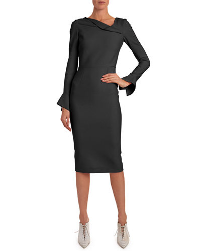 Liman Funnel-Cuff Dress