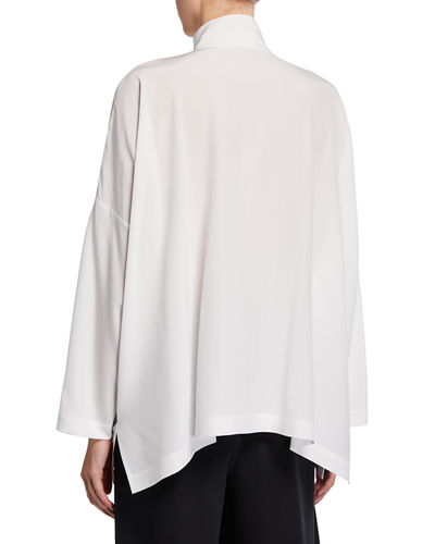 Eskandar Double-Stand Collar Oversized Tunic