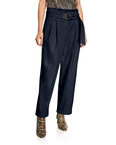Couture Gabardine Relaxed-Fit Pants