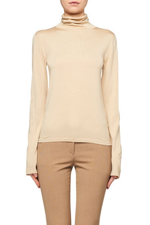 THE ROW Margarita Cashmere-Silk Turtleneck Sweater