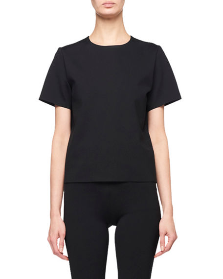 Image 1 of 2: THE ROW Gaspar Short-Sleeve Scuba Tee