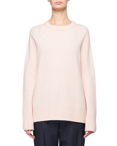 Sibina Wool-Cashmere Crewneck Sweater