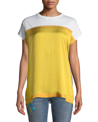 Crewneck Short-Sleeve Colorblock Tee