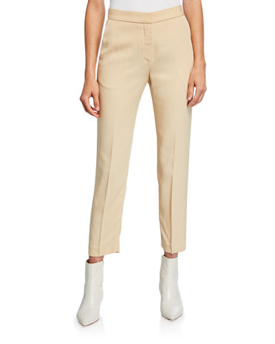 Cropped Tapered-Leg Pants
