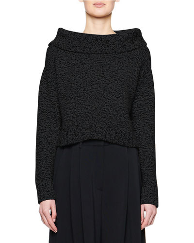 Luand Cashmere-Wool Foldover-Neck Sweater