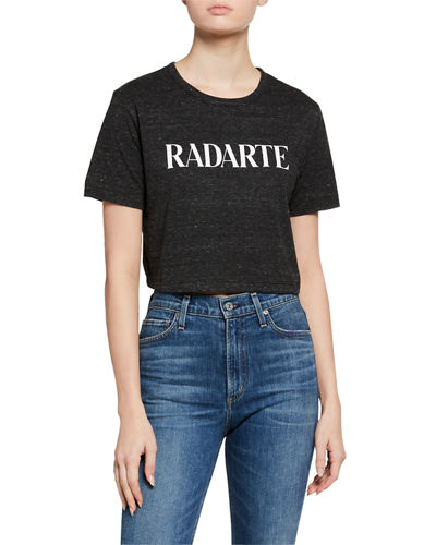 Classic Radarte Los Angeles Graphic Cropped Tee