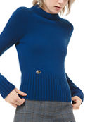 Michael Kors Collection Cashmere Cropped Wrap Top