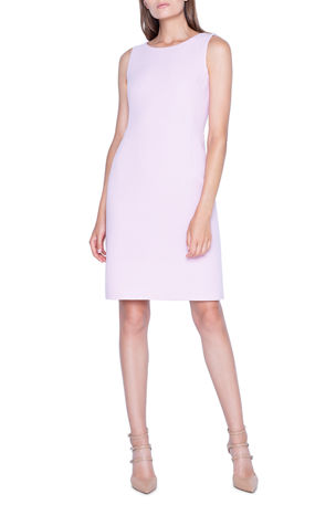 Akris Sleeveless Crepe Sheath Dress