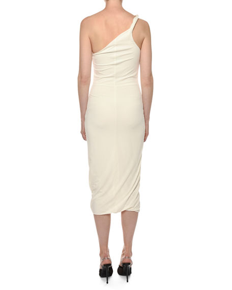 Image 2 of 2: TOM FORD Twisted One-Shoulder Sheath Dress
