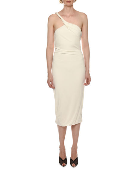 Image 1 of 2: TOM FORD Twisted One-Shoulder Sheath Dress