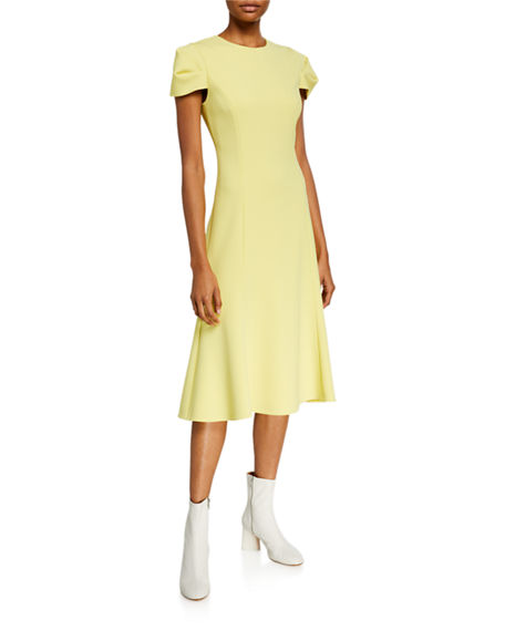 Jason Wu Collection Compact Crepe Fit & Flare Dress