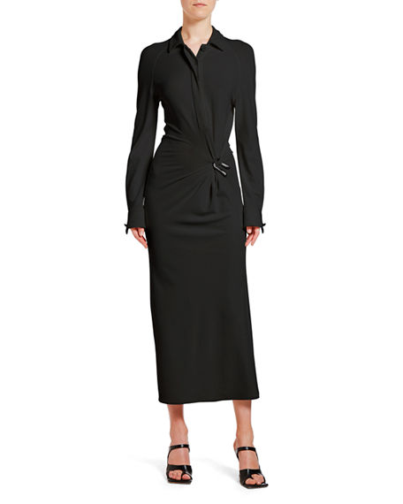 Bottega Veneta Wrapped Midi Shirtdress