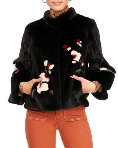 Mink Fur Jacket W/ Bell Sleeves