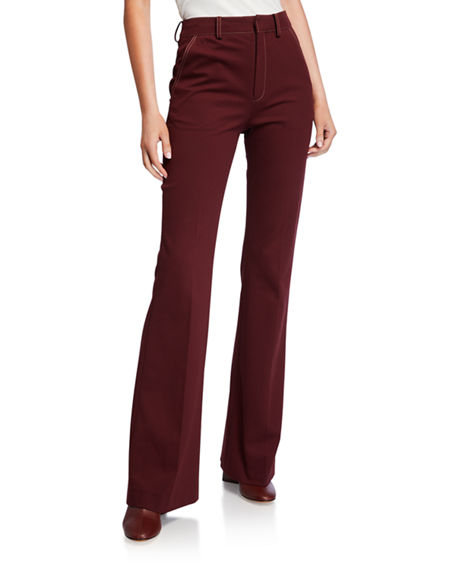 ADEAM High-Rise Boot-Cut Pants