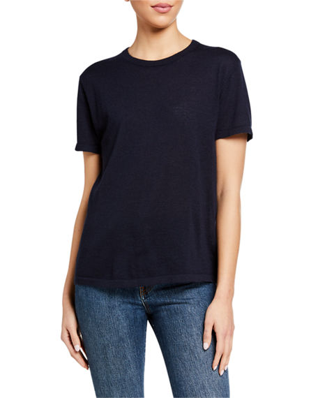 Co Cashmere Short-Sleeve T-Shirt