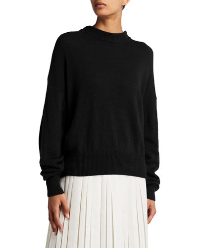 Ophelia Knit Cashmere Drop-Shoulder Sweater