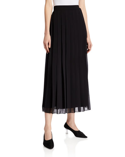 THE ROW Magda Pleated Skirt
