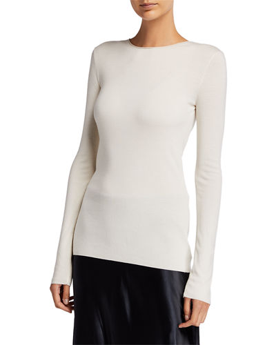 THE ROW Tumelo Merino Wool-Cashmere Sweater