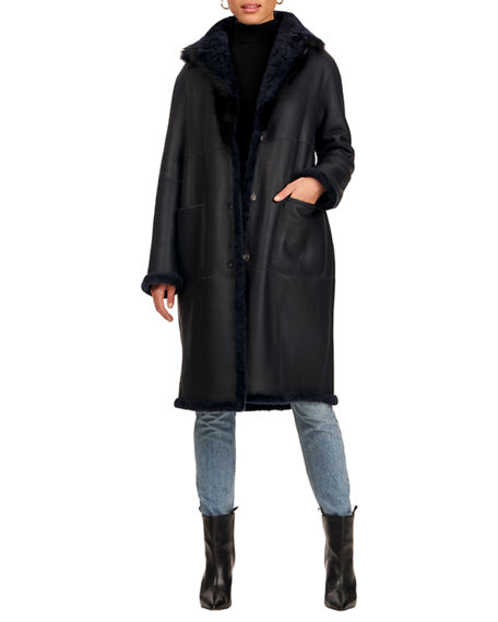Christia Lamb Shearling Short Coat