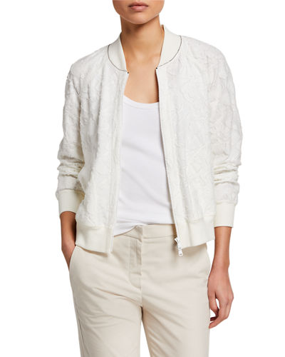 Fil Coupe Zip-Front Bomber Jacket