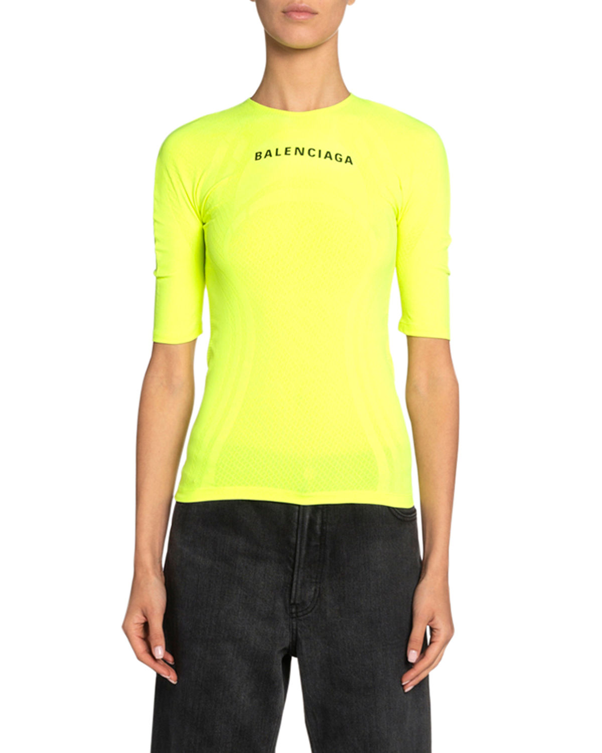 Balenciaga Athletic Jersey Top