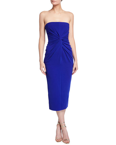 Alex Perry Lindsey Strapless Twist Cocktail Dress