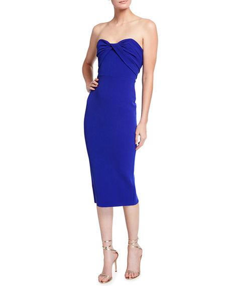 Alex Perry Kingsley Strapless Sweetheart Twist Cocktail Dress