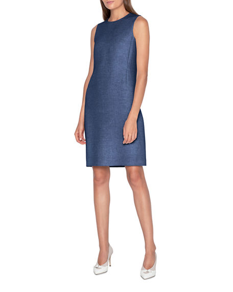 Akris Linen-Cotton Skimmer Dress